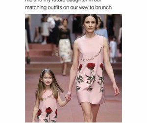 brunch, daughter, and dress image