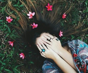 coachella, flowers, and hair image