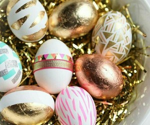 eggs, gold, and easter image