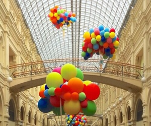 balloons, colorful, and fly image
