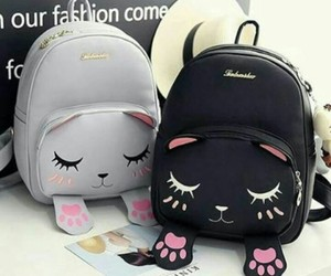 black, accessories, and backpack image