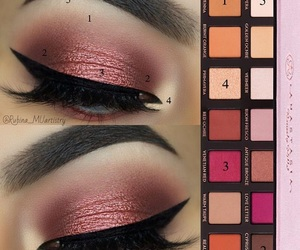 colors, eyebrows, and eyeliner image