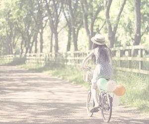 bike, girl, and menina image