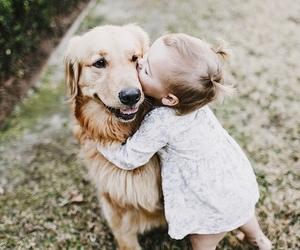 dog, baby, and animal image