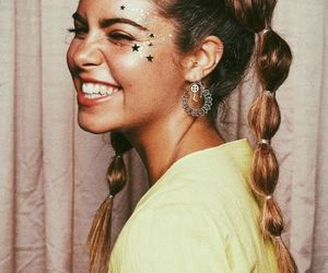 girl, glitter, and smile image