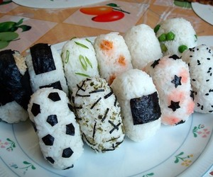 food, onigiri, and japanese image