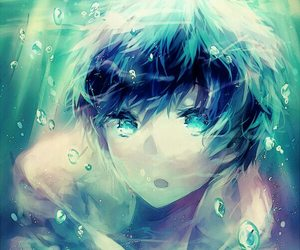 anime, boy, and blue green image