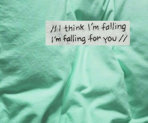 falling, teal, and sheets image