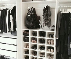 closet, decoration, and clothes image
