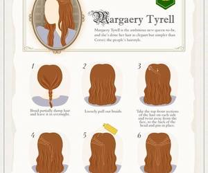 hair, game of thrones, and margaery tyrell image