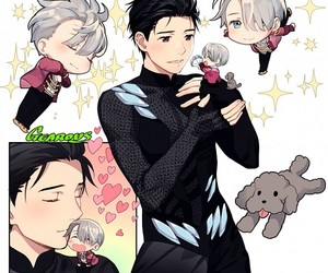 boy, makkachin, and anime image