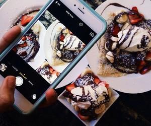 food, chocolate, and iphone image