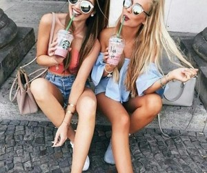 best friends, hair, and shoes image