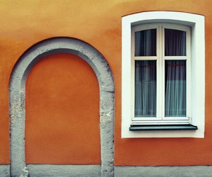 orange, wall, and windows image