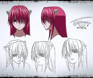 anime, elfen lied, and girl image