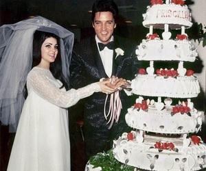 wedding, Elvis Presley, and vintage image