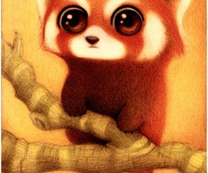 animal, Red panda, and art image
