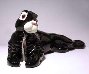 easter, sculpture, and bdsm bunny image
