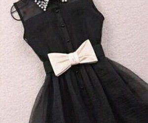 dress, black, and moda image