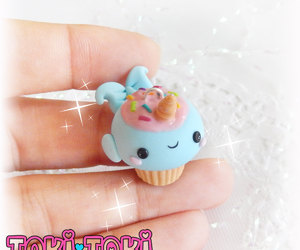 etsy, cute jewelry, and cupcake necklace image
