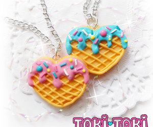 etsy, ice cream necklace, and cookie necklace image