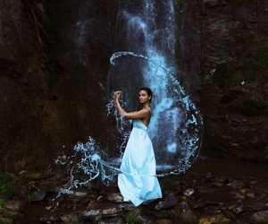 water, elements, and fantasy image