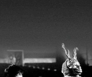 donnie darko, movie, and black and white image