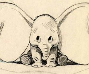 dumbo, disney, and drawing image