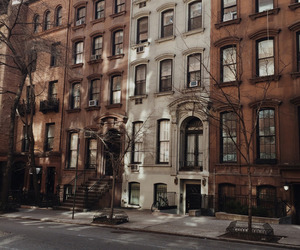 city, house, and new york image