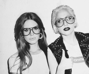 Lady gaga, lana del rey, and black and white image