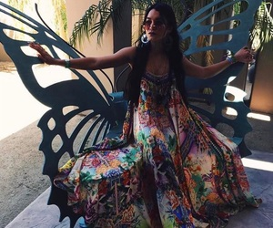 butterfly, coachella, and coachella queen image