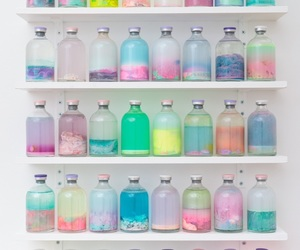 bottle, colors, and pastel image
