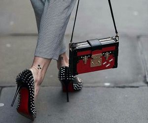 christian louboutin, fashion, and heels image