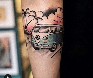 tattoo, car, and ink image