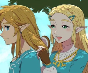 fanart, link, and breath of the wild image