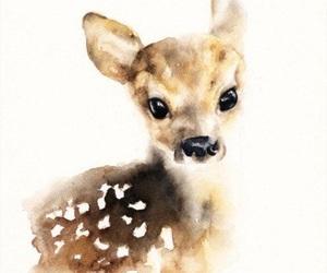 art, animal, and deer image