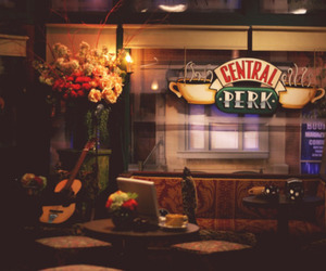 friends, central perk, and coffee image