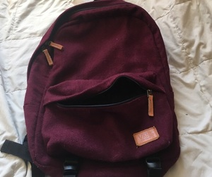 backpack, vans, and red backpack image