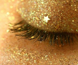 glitter, gold, and stars image
