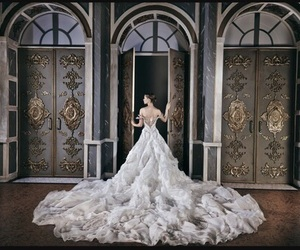 dress, wedding dress, and princess image