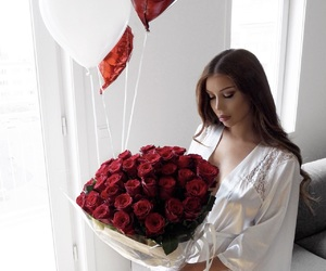 bday, red roses, and beauty image
