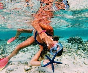 nature, ocean, and snorkeling image