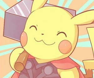 pikachu, wallpaper, and thor image