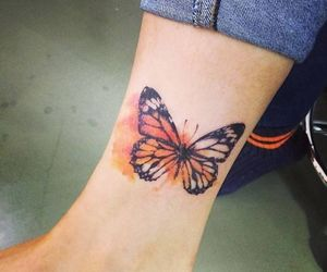 butterfly and tatto image