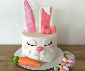 bunny, cake, and candy image