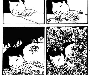 flowers, drawing, and nap image