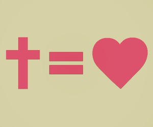 cross, god, and heart image