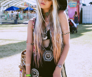 fashion, girl, and coachella image