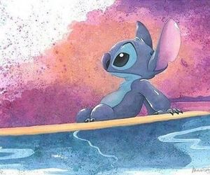stitch, disney, and art image