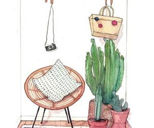 acuarela, drawing, and illustration image